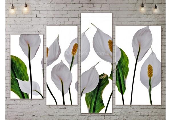 Модульная картина, из четырех сегментов со скидкой до -40%, ArtDM0181