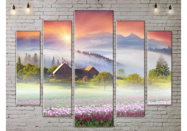 Модульная картина, из пяти сегментов со скидкой до -40%, ArtDM0179