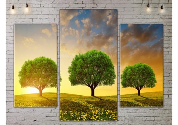 Модульная картина, из трех сегментов со скидкой до -40%, ArtDM0167