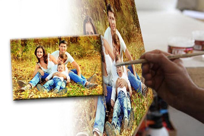 печать фото на холсте недорого