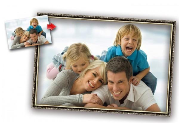Печать фото на холсте с оформлением в багет со скидкой до -40%