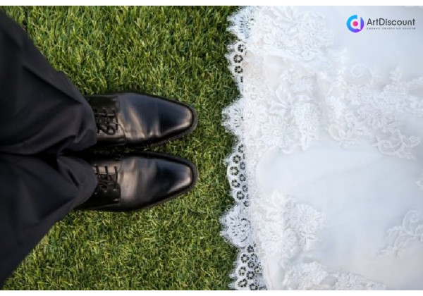 Оригинальный подарок на свадьбу – свадебное фото на холсте