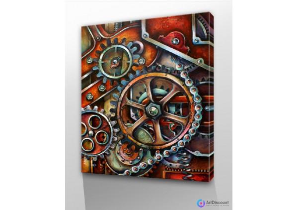 Картины абстракции интерьерные AINR0002