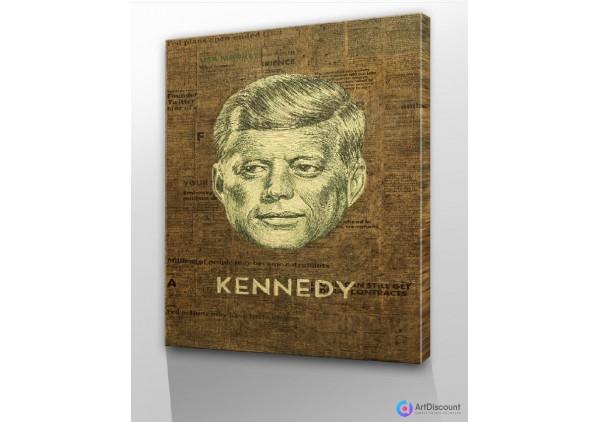 Картины абстракции интерьерные Джон Кеннеди AINR0005