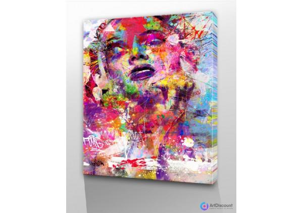 Картины абстракции интерьерные Девушка AINR0010