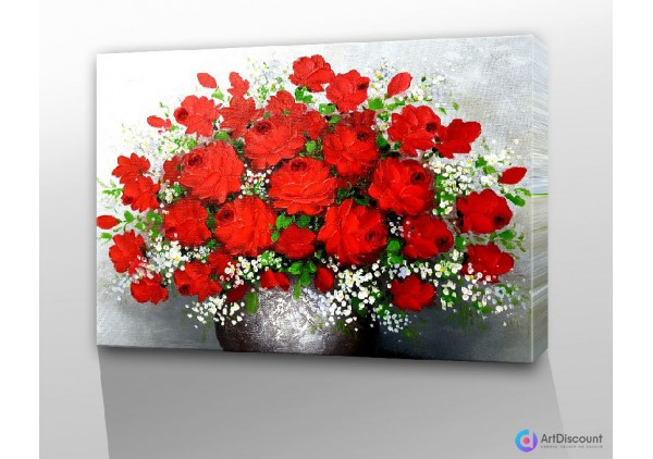 Картина цветы Розы AFLS0005