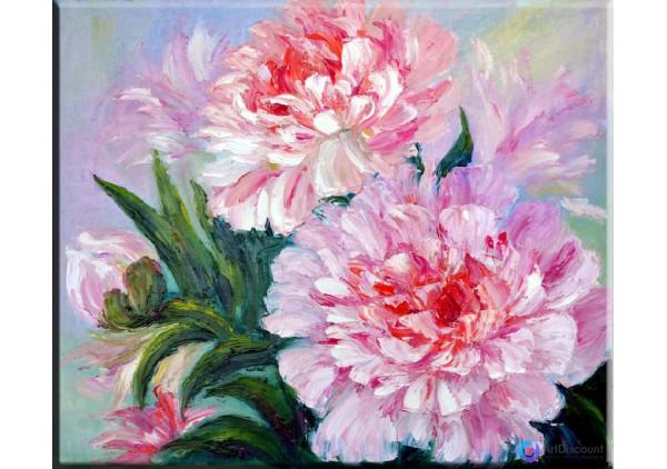 Картина цветы Пионы AFLS0010