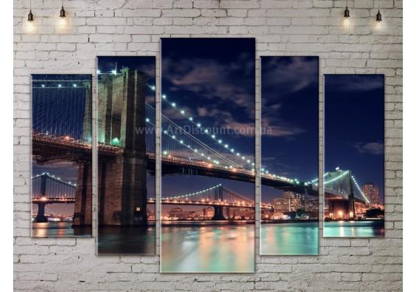 Модульная картина, из пяти сегментов со скидкой до -40%, ArtDM0059