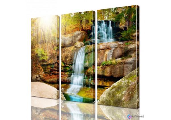 Модульная картина Водопад ADNA0155