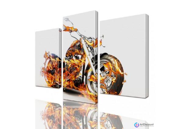 Модульная картина Мотоцикл ADA0006