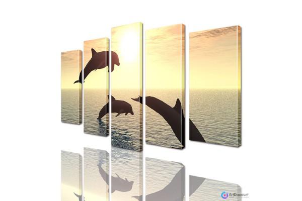 Модульная картина Дельфины AANI5_0006