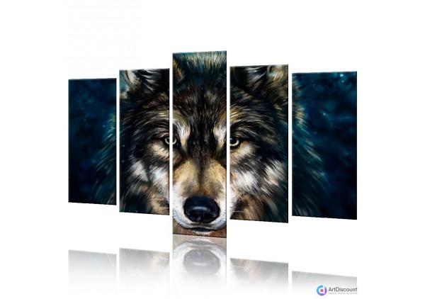 Модульная картина Волк AANI5_0009