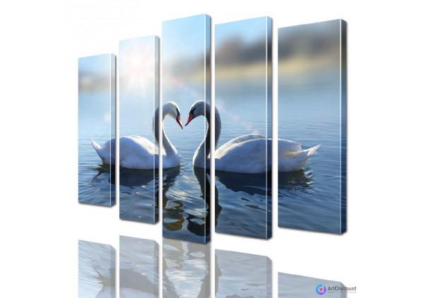 Модульная картина Лебеди AANI5_0011
