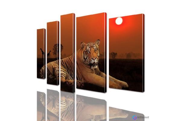 Модульная картина Тигр AANI5_0013