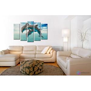 Модульная картина Дельфины AANI5_0017