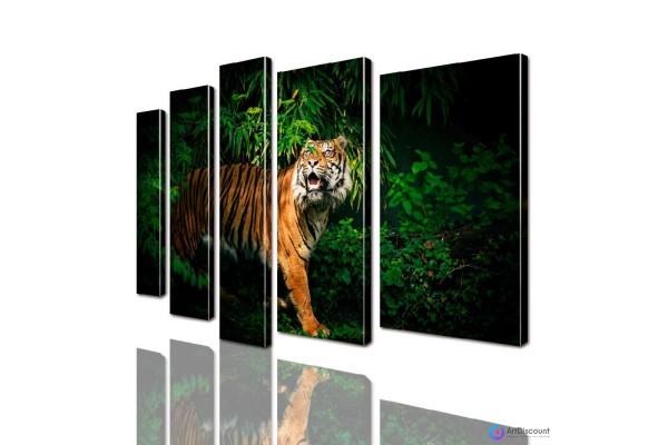 Модульная картина Тигр AANI5_0019