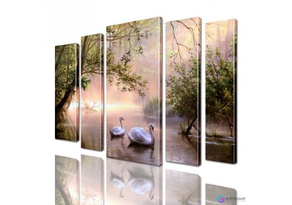Модульная картина Лебеди AANI5_0023