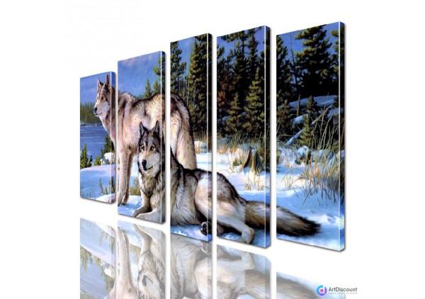 Модульная картина Волки AANI5_0031