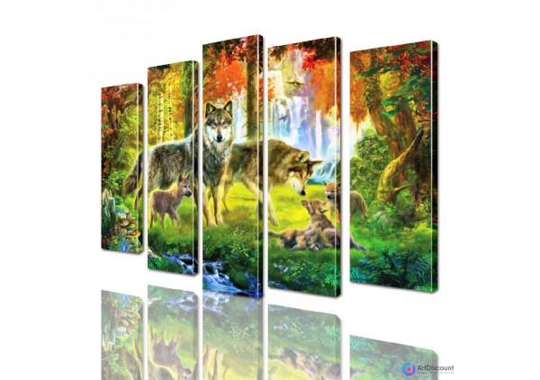 Модульная картина Волки AANI5_0033