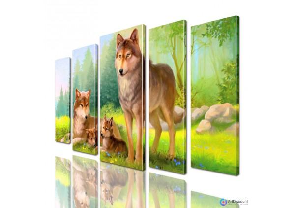 Модульная картина Волки AANI5_0035