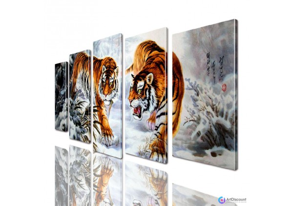 Модульная картина Тигры AANI5_0037