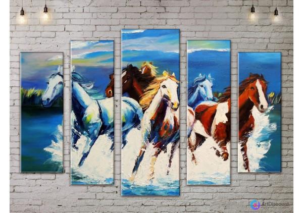 Модульная картина Лошади AANI5_0048
