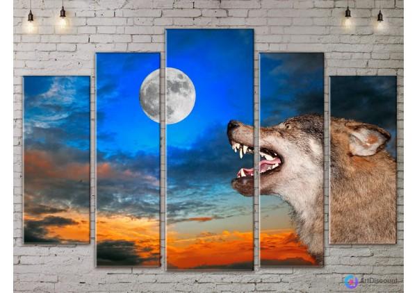 Модульная картина Волк AANI5_0053