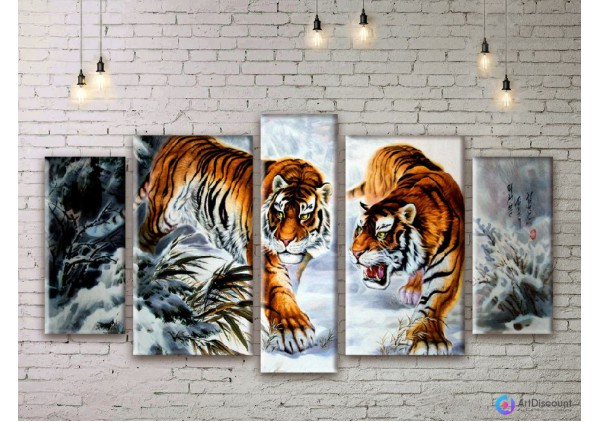 Модульная картина Тигры AANI5_0067
