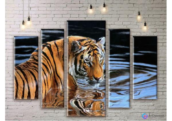Модульная картина Тигр AANI5_0069