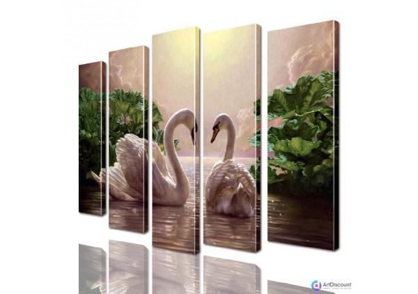 Модульная картина Лебеди AANI5_0075