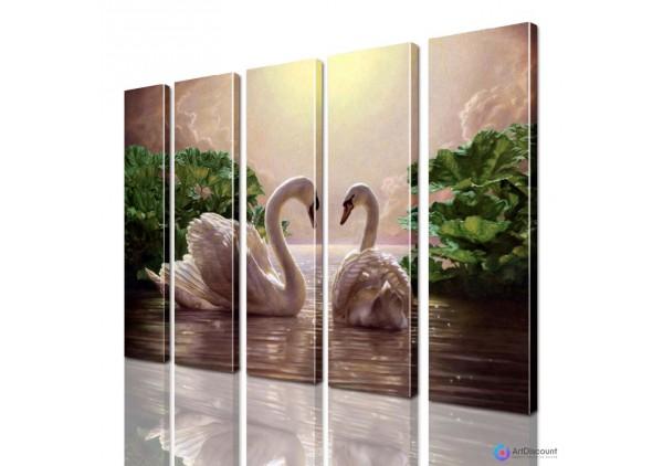Модульная картина Лебеди AANI5_0076