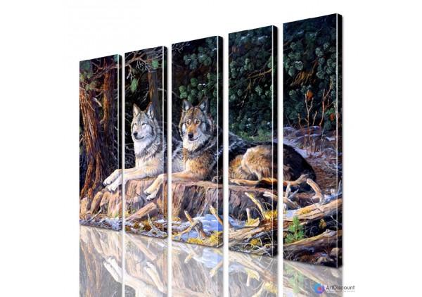 Модульная картина Волки AANI5_0078