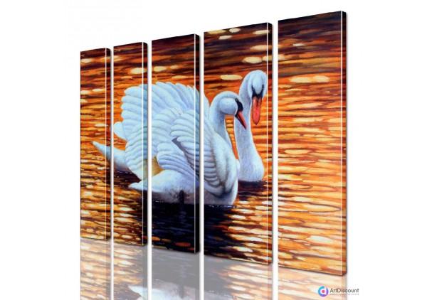 Модульная картина Лебеди AANI5_0082