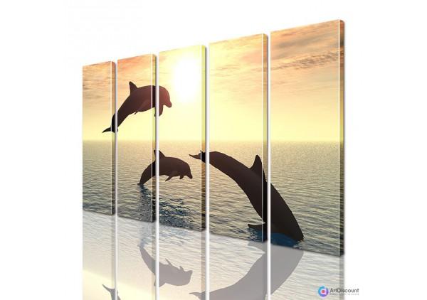 Модульная картина Дельфины AANI5_0086