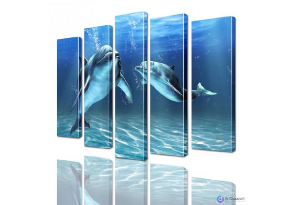 Модульная картина Дельфины AANI5_0089