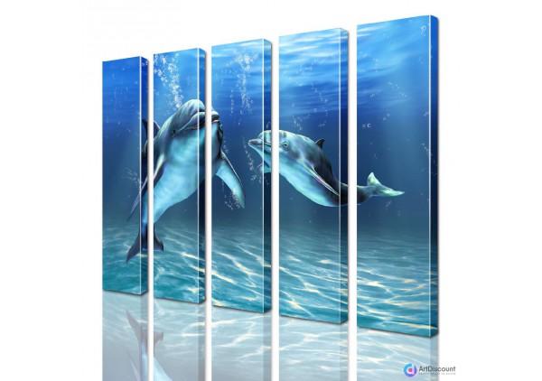 Модульная картина Дельфины AANI5_0090