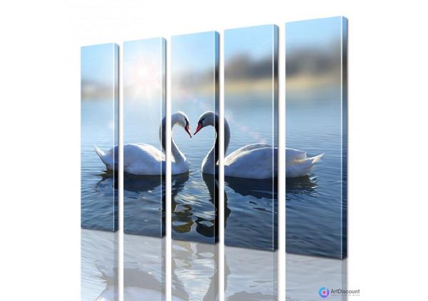 Модульная картина Лебеди AANI5_0094