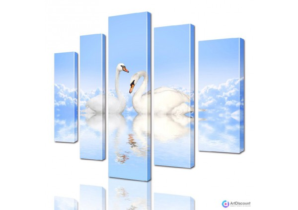 Модульная картина Лебеди AANI5_0103