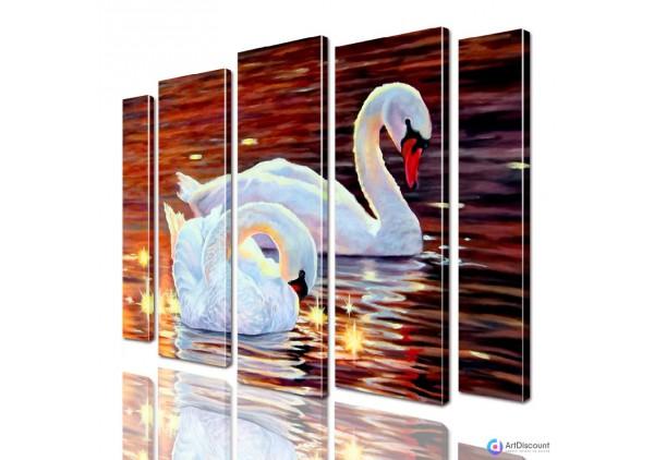Модульная картина Лебеди AANI5_0115