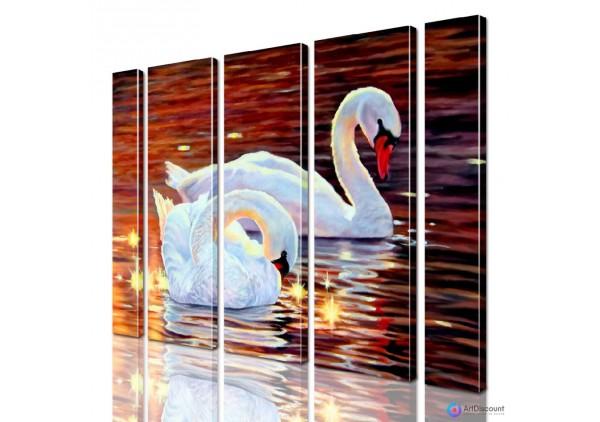 Модульная картина Лебеди AANI5_0116