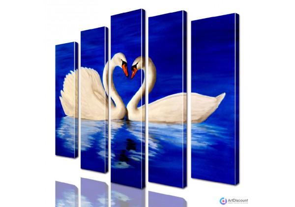 Модульная картина Лебеди AANI5_0121