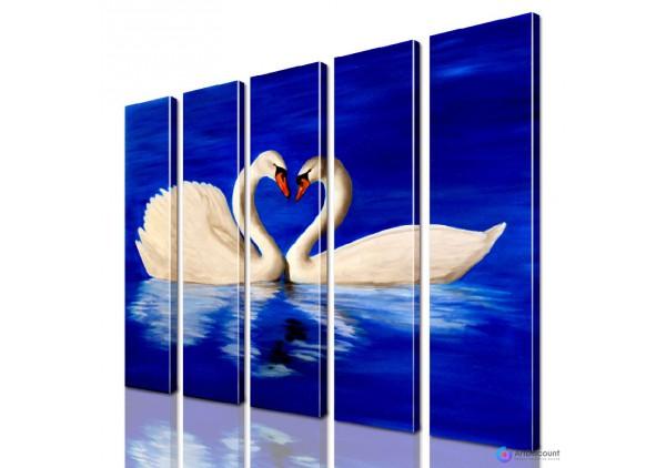 Модульная картина Лебеди AANI5_0122
