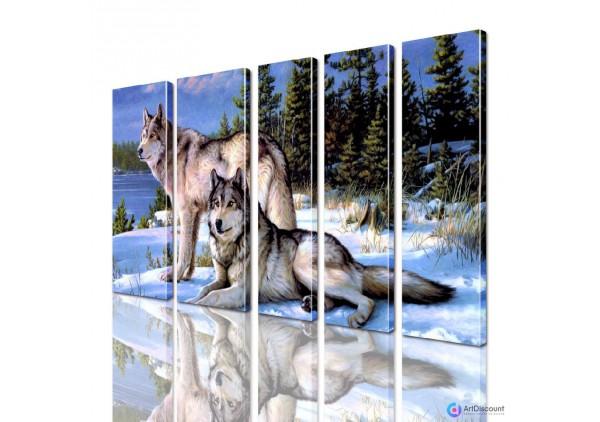 Модульная картина Волки AANI5_0124