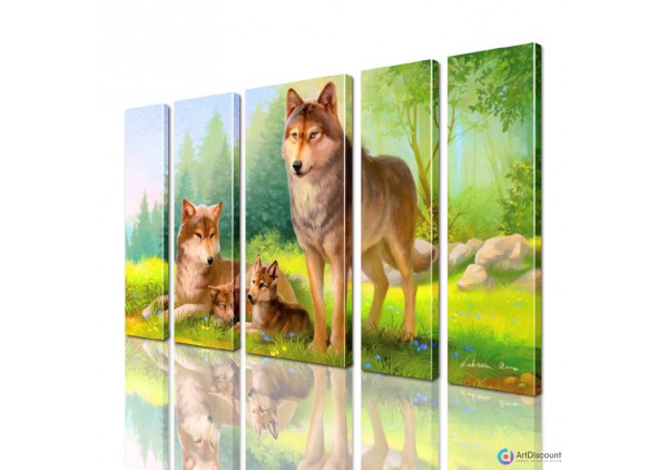 Модульная картина Волки AANI5_0128