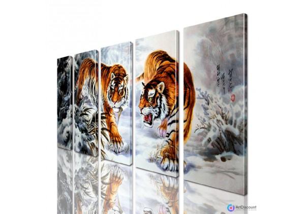 Модульная картина Тигры AANI5_0130