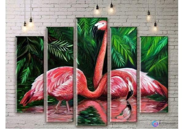 Модульная картина Фламинго AANI5_0131