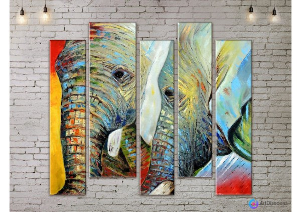 Модульная картина Слоны AANI5_0133