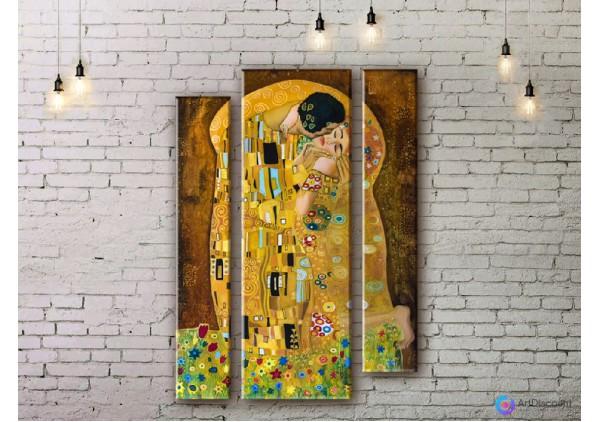 Модульная картина Климт Поцелуй ADV0001