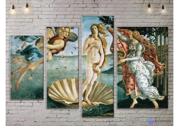 Модульная картина Боттичелли Рождение Венеры ADI4_0005