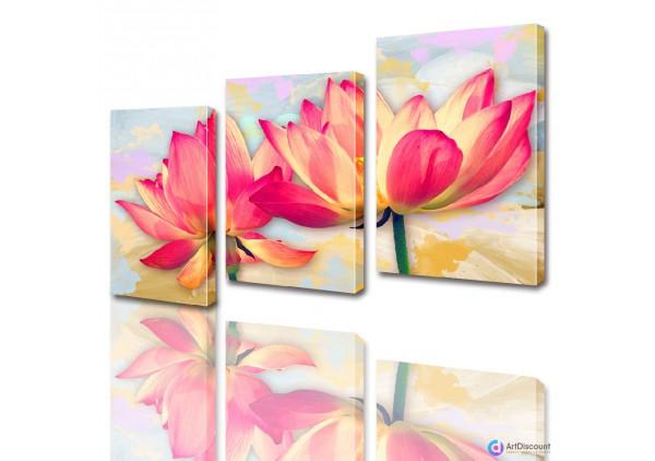 Модульные картины цветы Лилии ADFL0005